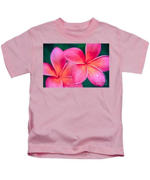 Aloha Hawaii Kalama O Nei Pink Tropical Plumeria Kids T-Shirt