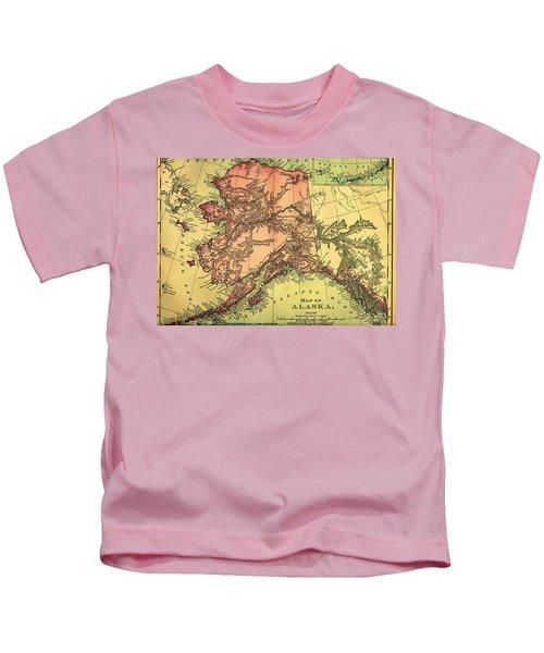 Antique Map Of Alaska 1895 Kids T-Shirt