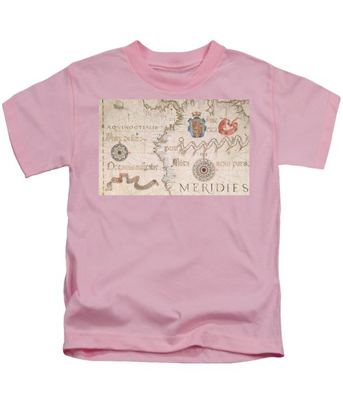 Antique Map Of Peru And The Amazon Kids T-Shirt
