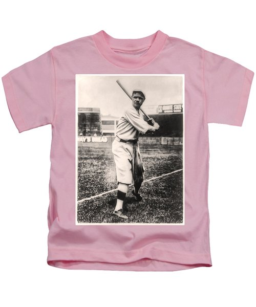 Babe Ruth Kids T-Shirt by Bill Cannon