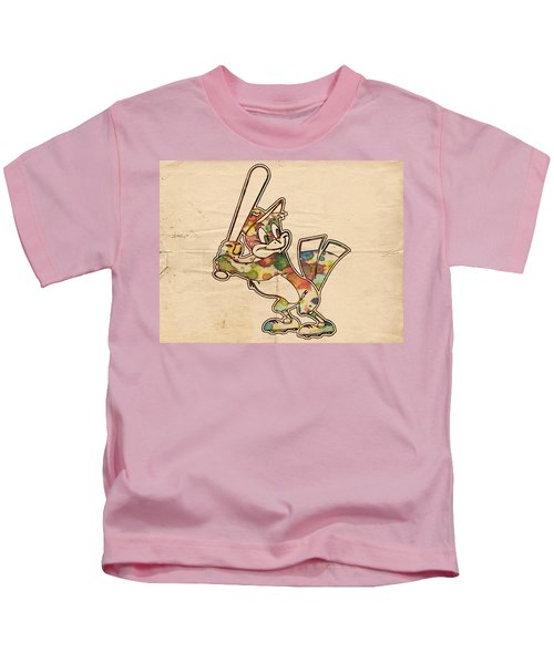 Baltimore Orioles Vintage Logo Kids T-Shirt
