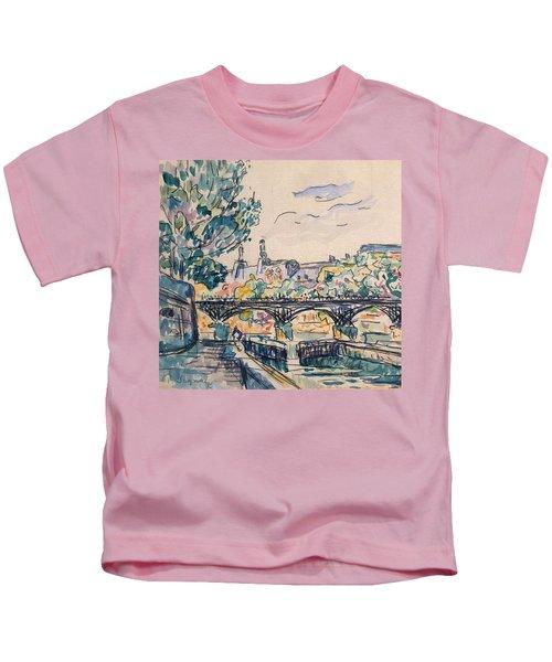 Bank Of The Seine Near The Pont Des Arts Kids T-Shirt
