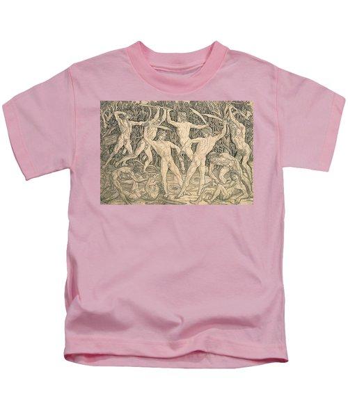 Battle Of The Nudes Kids T-Shirt