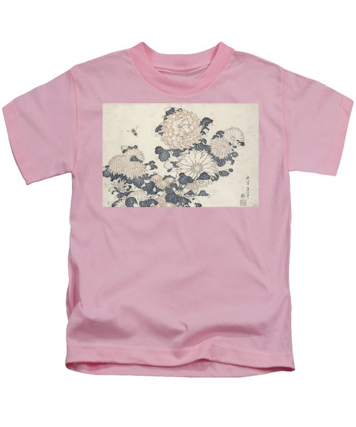 Bee And Chrysanthemums Kids T-Shirt