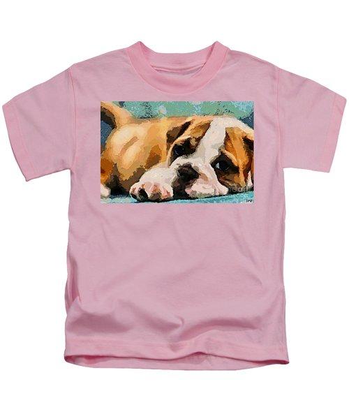 Bulldog Puppy Kids T-Shirt