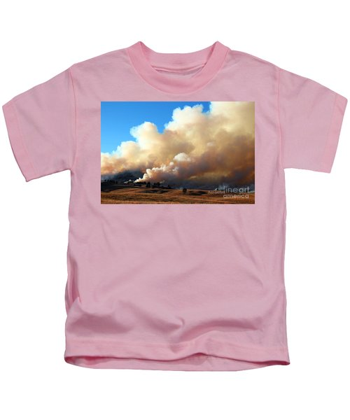 Burning In The Black Hills Kids T-Shirt