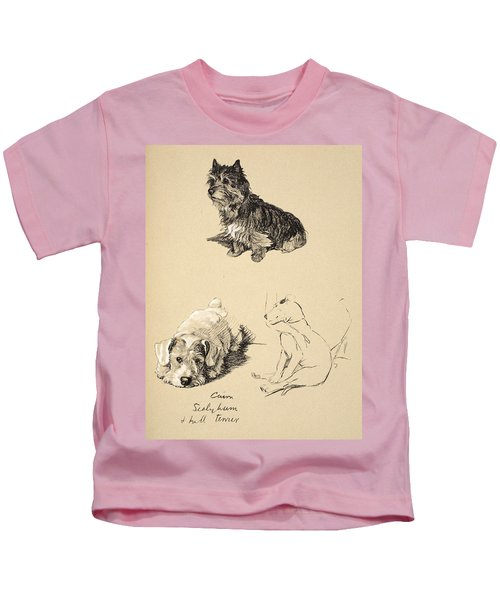Cairn, Sealyham And Bull Terrier, 1930 Kids T-Shirt