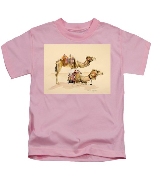 Camels From Petra Kids T-Shirt