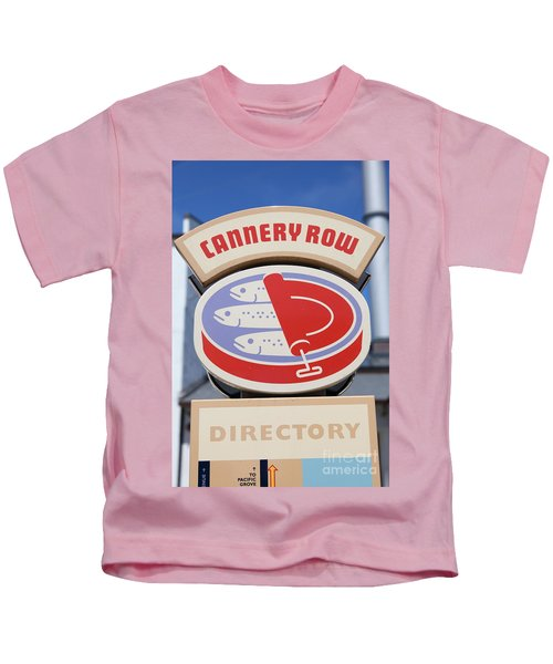 Cannery Row Directory At The Monterey Bay Aquarium California 5d25020 Kids T-Shirt
