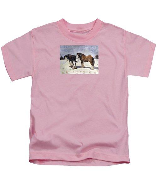 Chance Of Flurries Kids T-Shirt