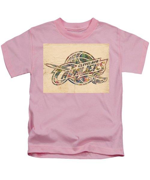 Cleveland Cavaliers Poster Art Kids T-Shirt