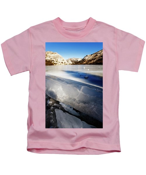 Close-up Of Uplifted Ice On A Frozen Kids T-Shirt