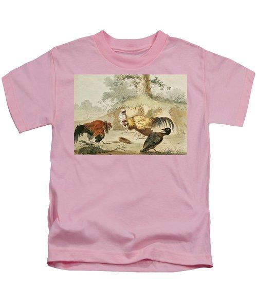 Cocks Fighting Kids T-Shirt