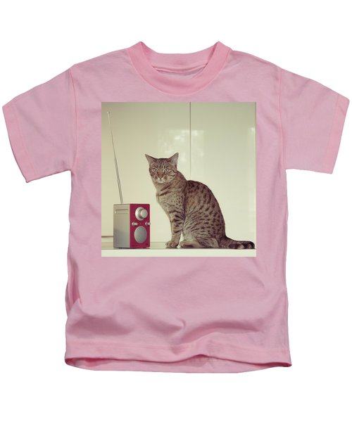 Concentrated Listener Kids T-Shirt