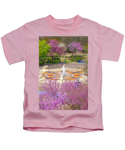 Coolidge Park Fountain In Spring Kids T-Shirt