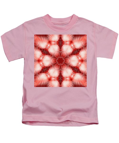 Cosmic Spiral Kaleidoscope 22 Kids T-Shirt
