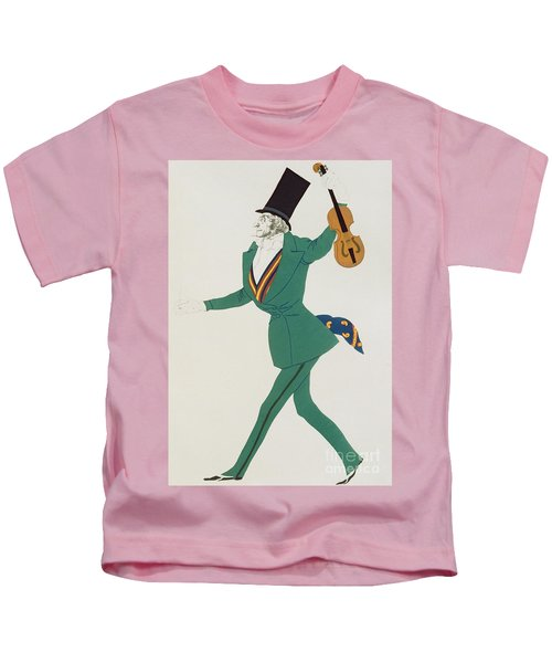 Costume Design For Paganini In The Enchanted Night Kids T-Shirt