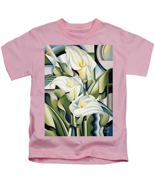 Cubist Lilies Kids T-Shirt