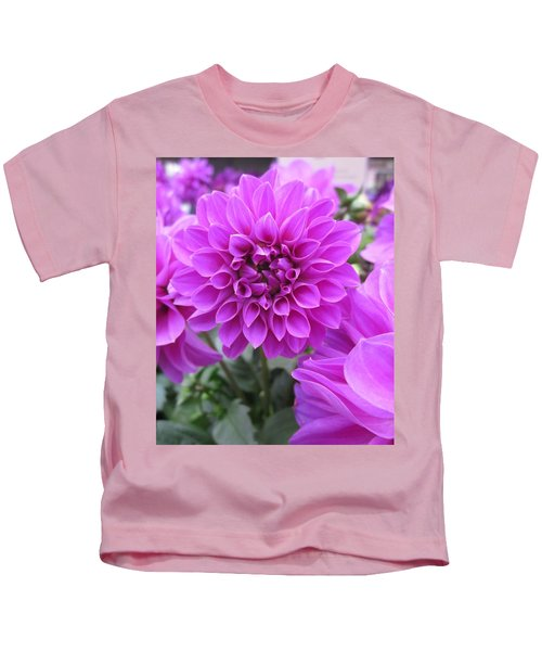 Dahlia In Pink Kids T-Shirt