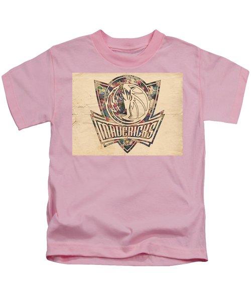 Dallas Mavericks Poster Art Kids T-Shirt