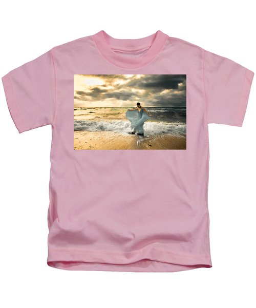 Dancing In The Surf Kids T-Shirt