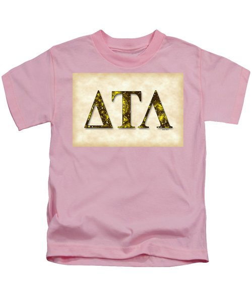 Delta Tau Lambda - Parchment Kids T-Shirt by Stephen Younts