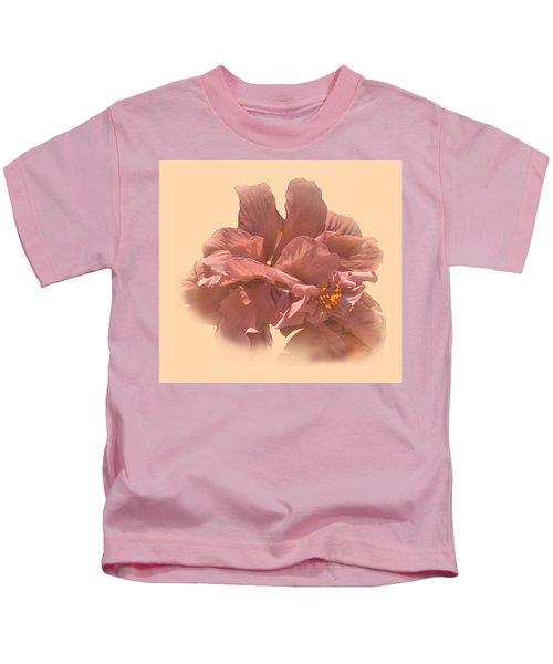 Double Hibiscus Portrait Kids T-Shirt
