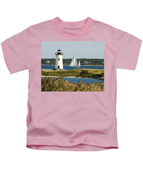 Edgartown Light At Martha's Vineyard Kids T-Shirt