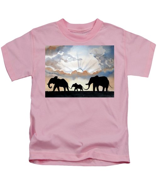 Elephants Kids T-Shirt