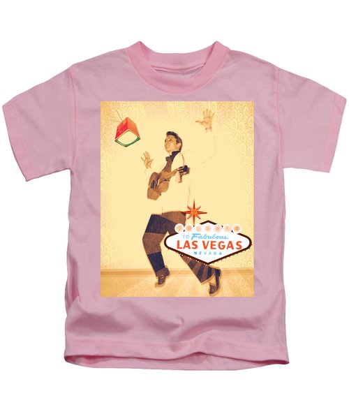 Elvis On Tv Kids T-Shirt