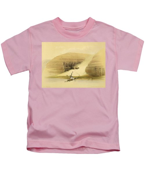 Excavated Temple Of Abu Simbel Kids T-Shirt