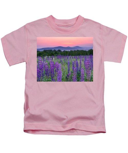 Field Of Purple Kids T-Shirt