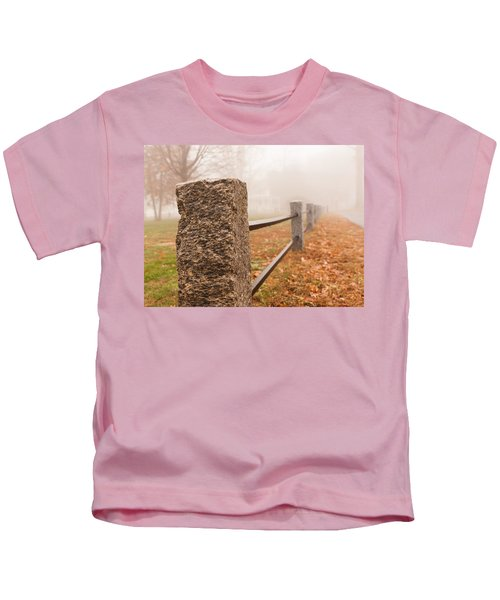 Foggy Morning In Ellington Kids T-Shirt
