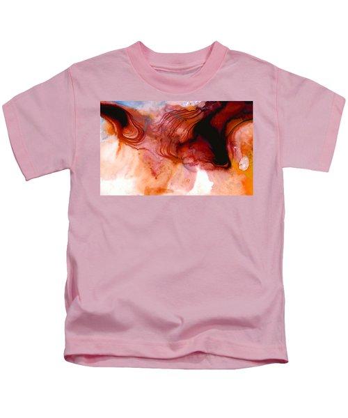 Garnet Sea - Abstract Art By Sharon Cummings Kids T-Shirt