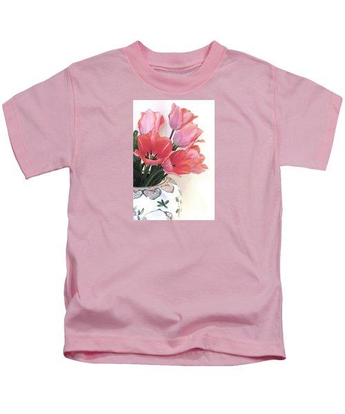Gathered Tulips Kids T-Shirt