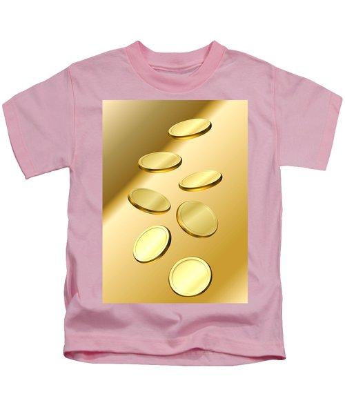 Gold Coins Kids T-Shirt