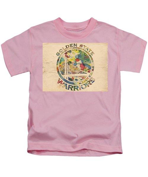 Golden State Warriors Logo Art Kids T-Shirt