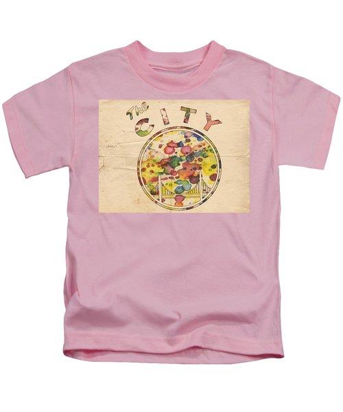 Golden State Warriors Retro Art Kids T-Shirt