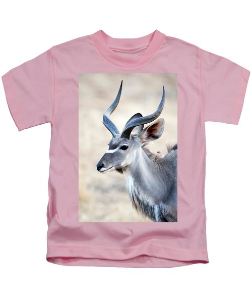 Greater Kudu Tragelaphus Strepsiceros Kids T-Shirt