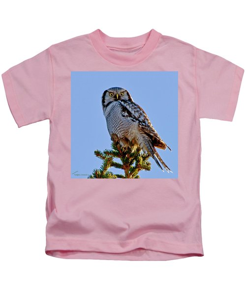 Hawk Owl Square Kids T-Shirt