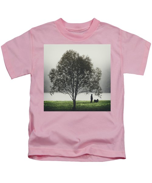 Her Life With A Dog Kids T-Shirt