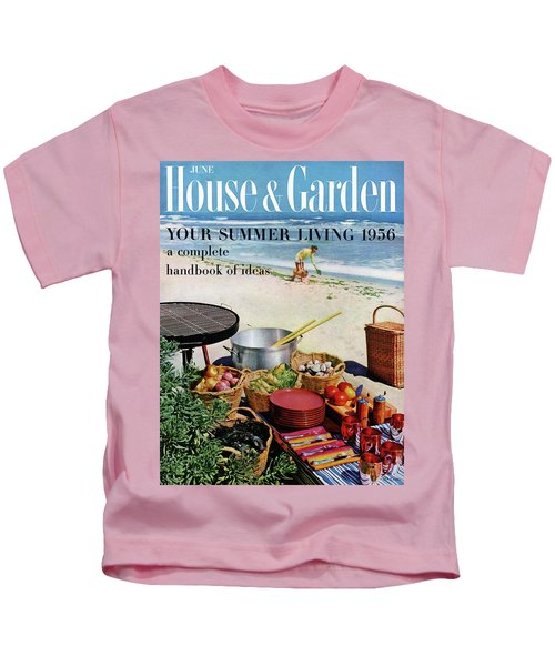House And Garden Ideas For Summer Issue Cover Kids T-Shirt