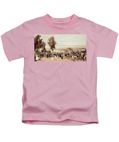 Hyde Park, Towards The Grosvenor Gate Kids T-Shirt by Thomas Shotter Boys