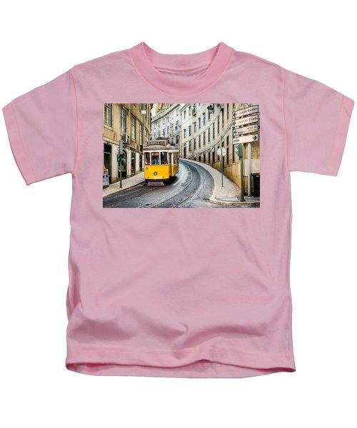 Iconic Lisbon Streetcar No. 28 IIi Kids T-Shirt