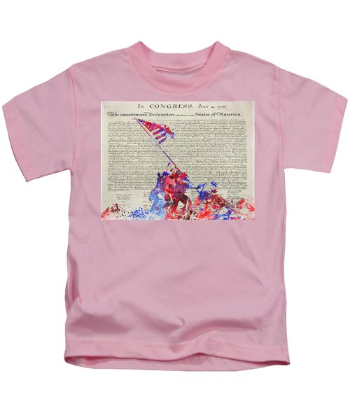 Iwo Jima Declaration Of Freedom Kids T-Shirt