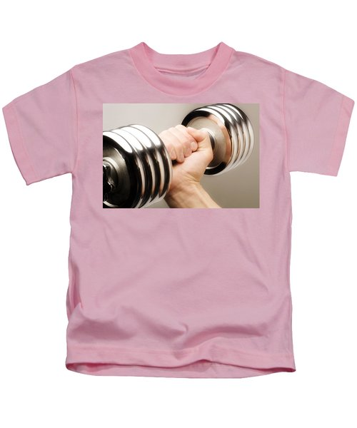 Lifting Weights Kids T-Shirt