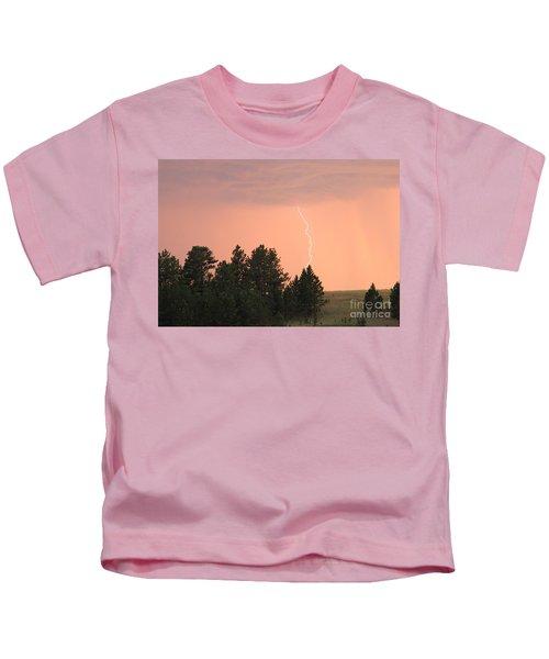 Lighting Strikes In Custer State Park Kids T-Shirt