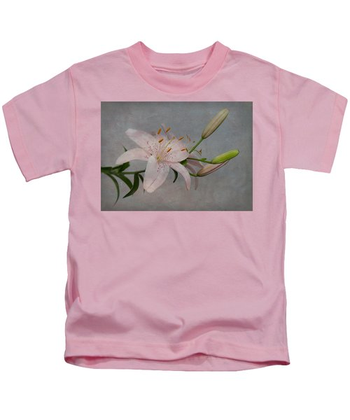 Pink Lily With Texture Kids T-Shirt