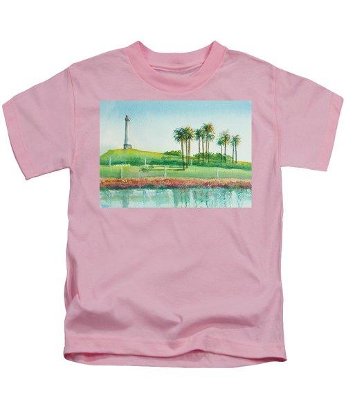 Long Beach Lighthouse Kids T-Shirt