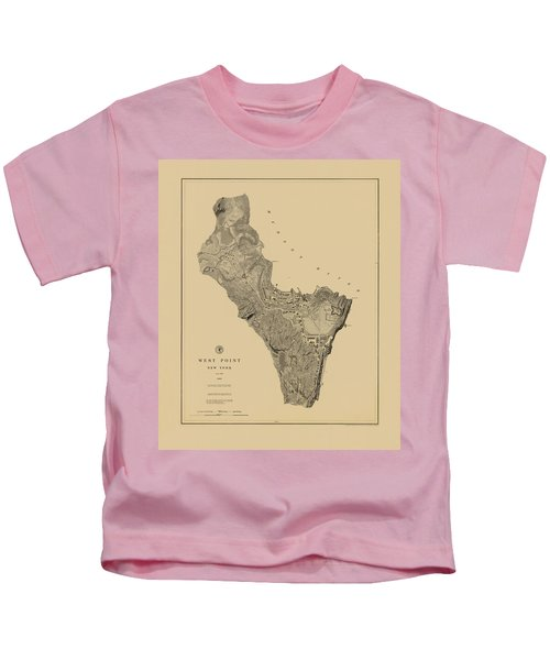 Map Of West Point 1883 Kids T-Shirt